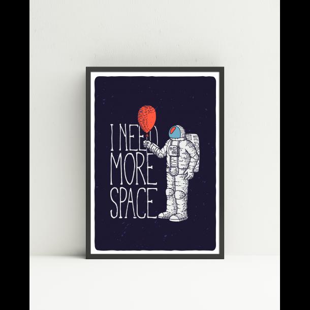 Astronaut plakat med citat A3