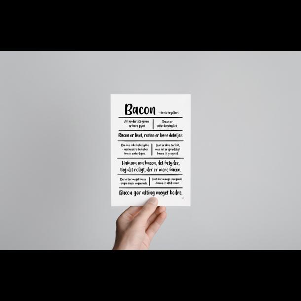 Bacon citatkollage A5
