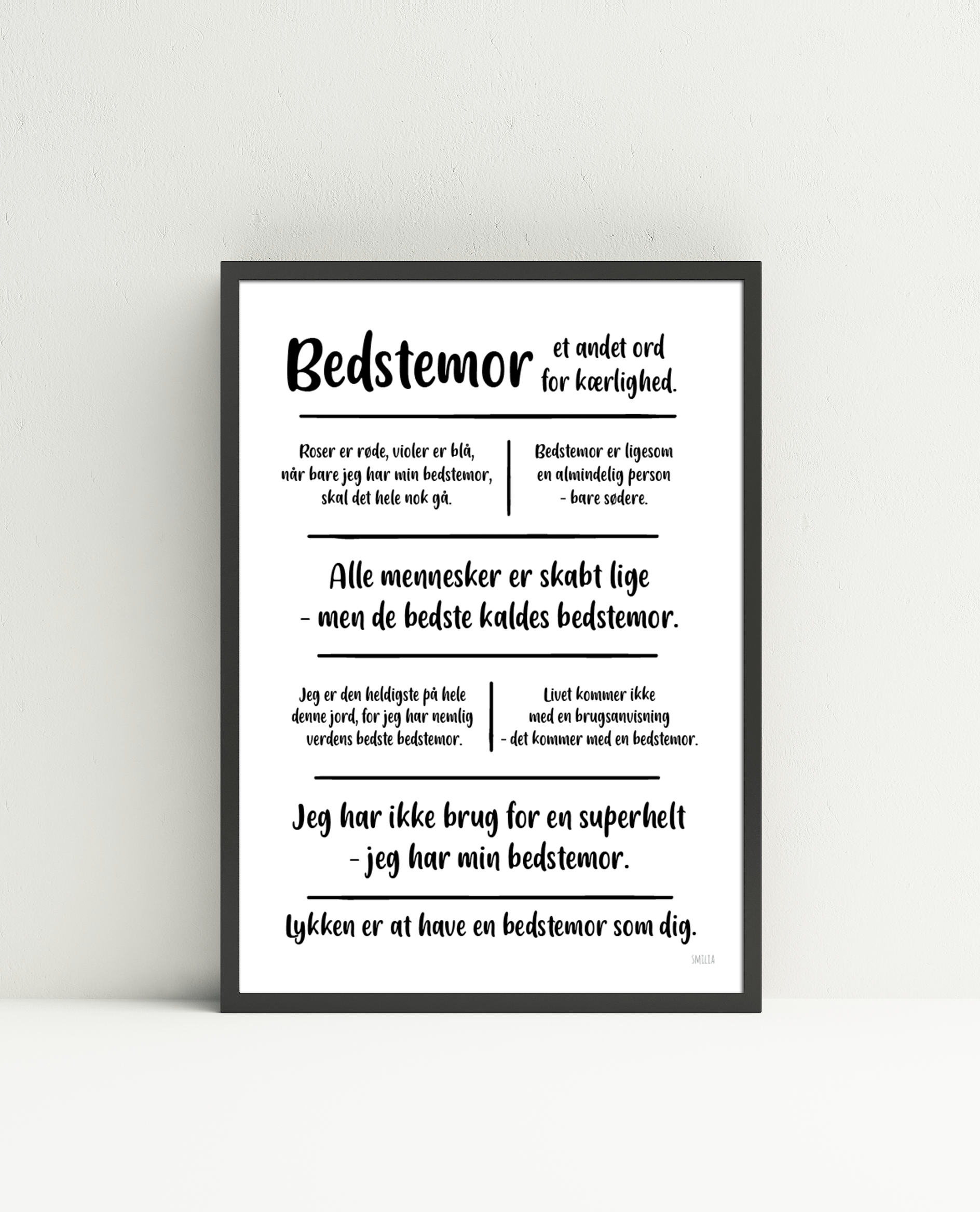 Bedstemor (MIN) citatkollage  A4