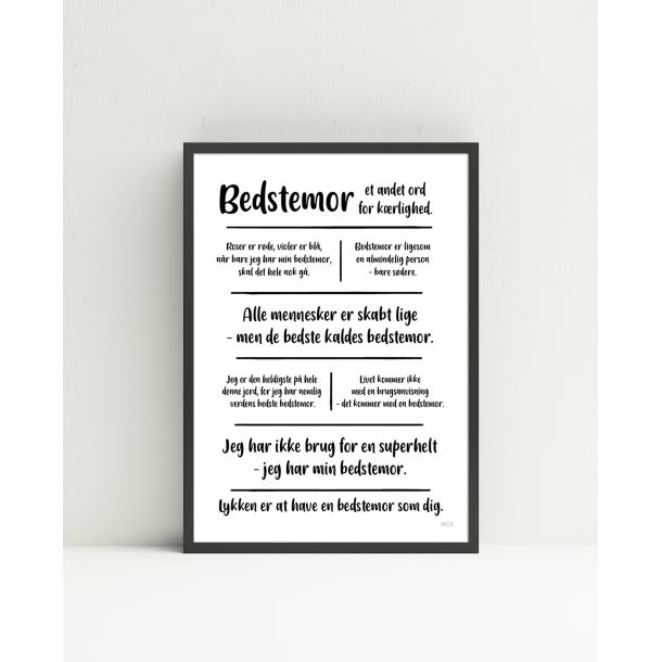 Bedstemor citatkollage  A4