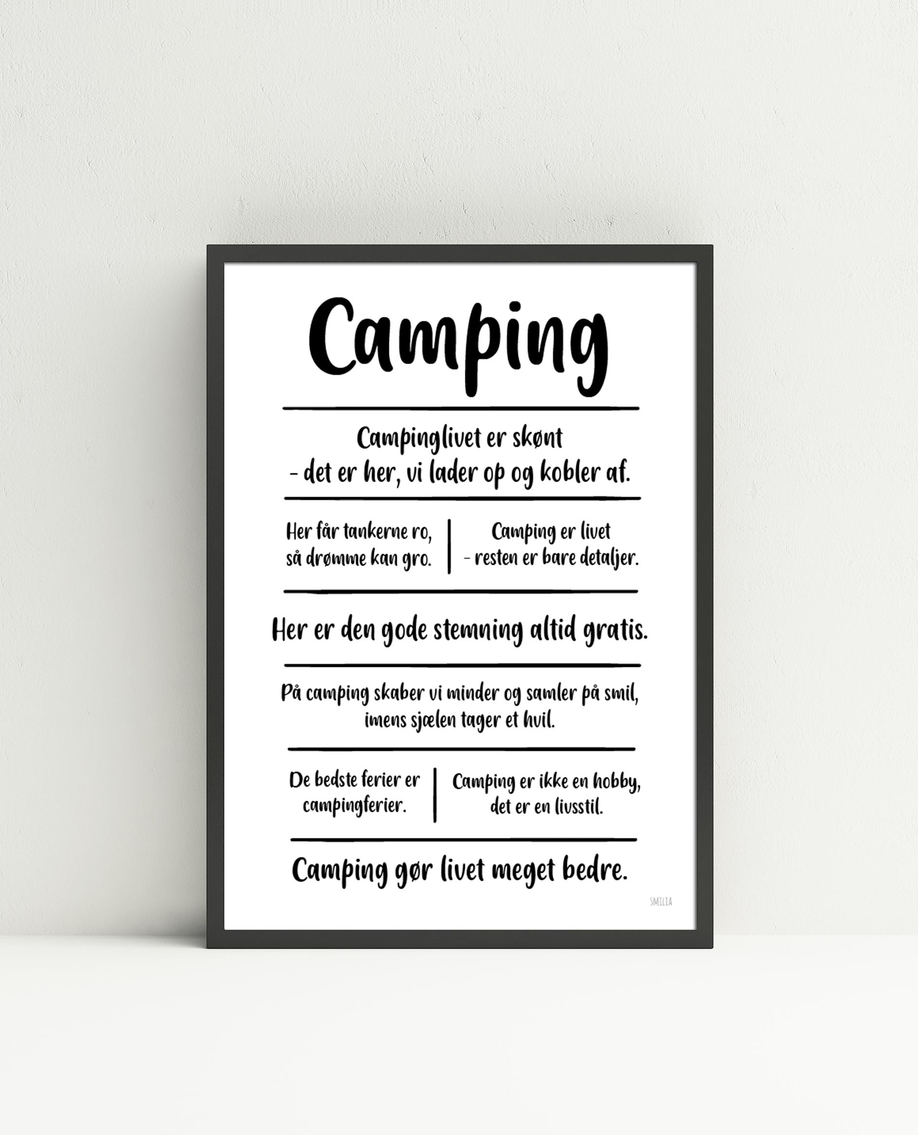 Camping citatkollage (A4)