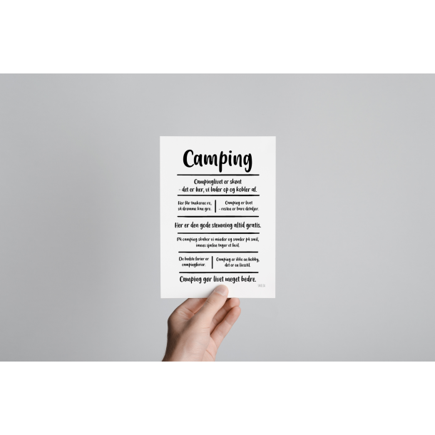 Camping citatkollage (A5)