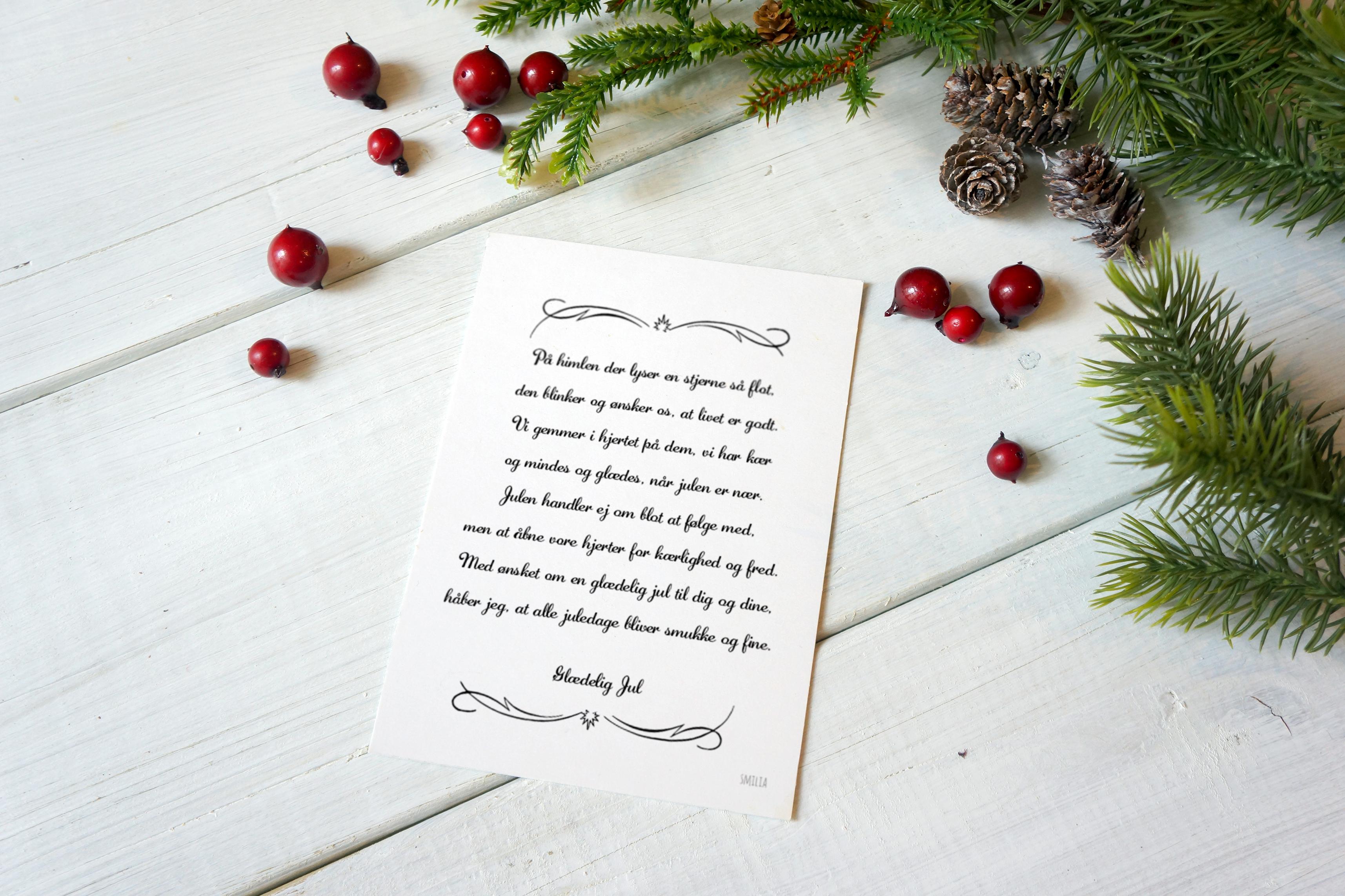 citater til julekort Julekort A5