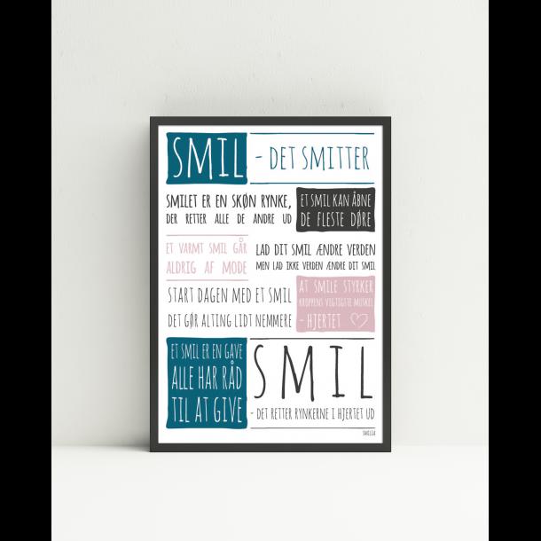 citat plakat smil Smil   det smitter. Plakat (A4) citat plakat smil