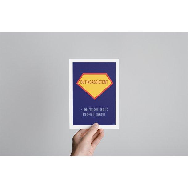 Butiksassistent superhelt A5
