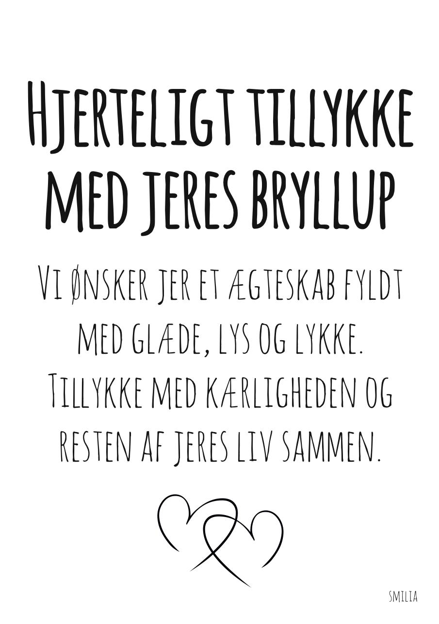 bryllupskort citat Blad i akacie træ 10 cm   Ting og sager til hjemmet   StiLia ApS bryllupskort citat