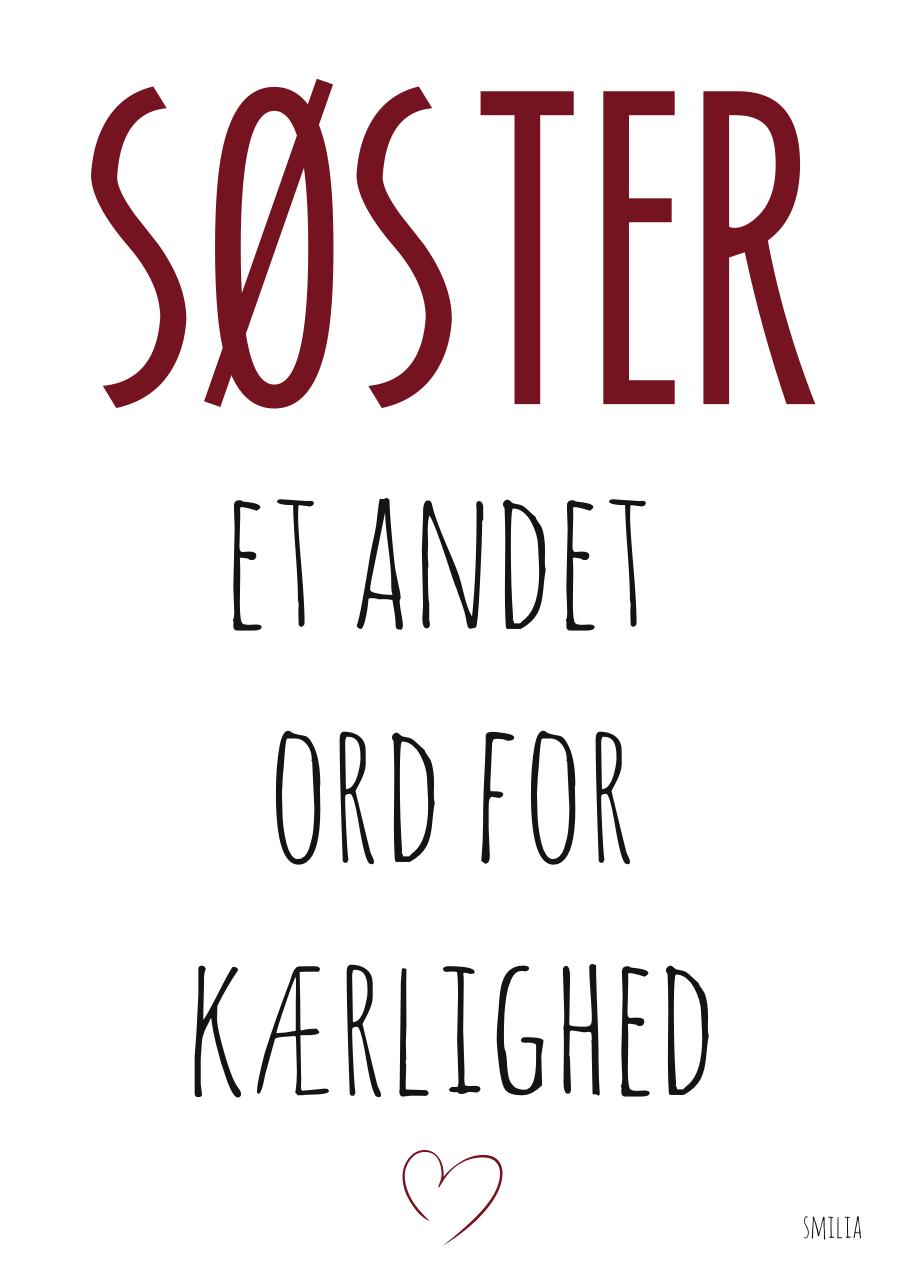 citat søster Søster   et andet ord for kærlighed   Smilia   StiLia ApS citat søster